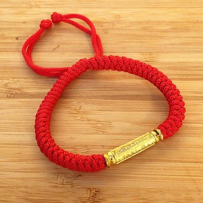 Bracelet bouddhiste mantra cordon rouge