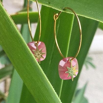 Créoles roses BAO