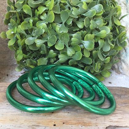 Bracelet bouddhiste couleur verte d'été VERSION LARGE