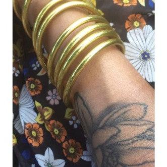 Bracelet bouddhiste couleur dorée VERSION LARGE