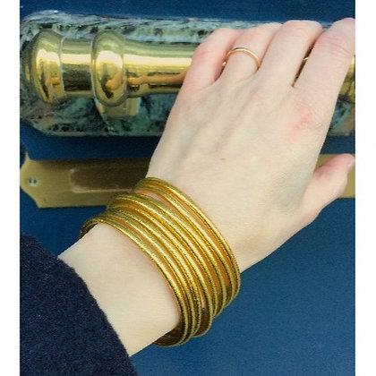 Bracelet bouddhiste couleur dorée VERSION FINE