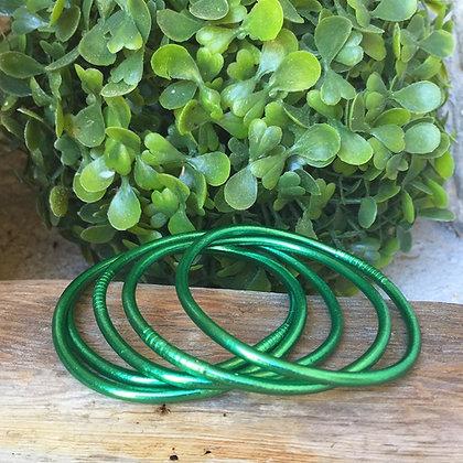 Bracelet bouddhiste couleur verte d'été VERSION FINE