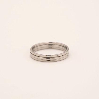 Good fortune ring - Acier argenté