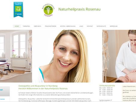 Neu Webseite der Naturheilpraxis Rosenau.