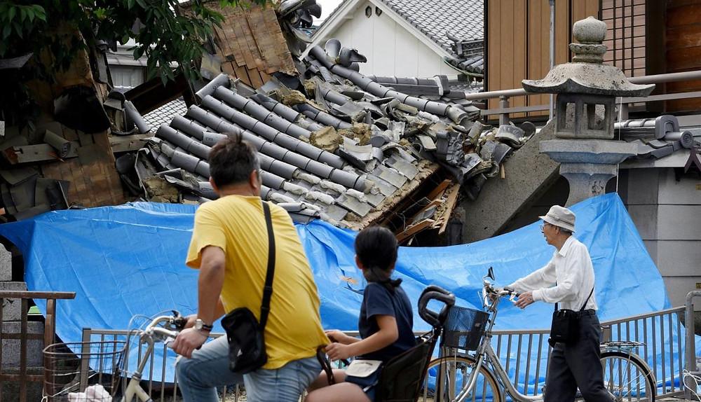 Terremoto en Osaka foto del periódico el Comercio.