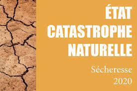ETAT DE CATASTROPHE NATURELLE