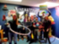 BREAKOUT ESCAPE ROOM TEAM FINISHES THE RINGASTERS DEN AND HAS FUN HULAHOOPING AND DRESSING UP FOR PHOTOS