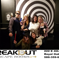 chasmber of illusions, breakout escape rooms magic game in royal oak, ann arbor and lansing mi.