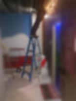 Breakout Escape Room Owner Dan Schutz building the escape game Elf Myself in 2018