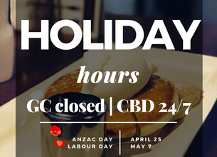 Anzac Day / Labour Day Hours