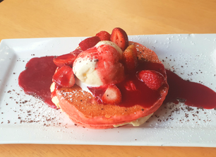 Pink Velvet Pancakes - Valentine's!