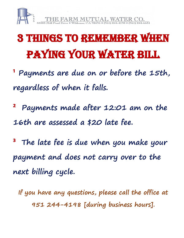 3 things to remember when paying your wa