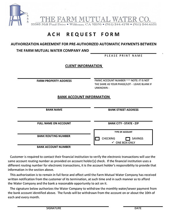 Fmwc  Automatic Payment Request Form