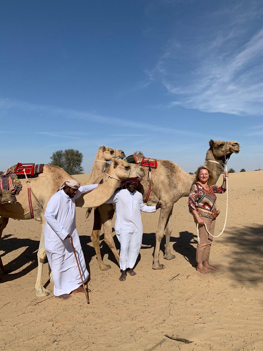 La camel Farm de Viviane Paturel propose des baptémes de la bosse à Dubaï