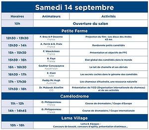 programme SAMEDI 14 SEPTEMBRE DE LA FFC