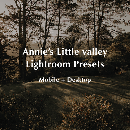 Annie's Little Valley Lightroom Presets Mobile + Desktop