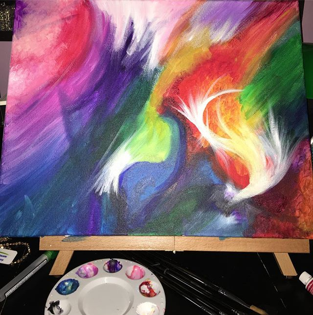 Just let go and paint what you feel!