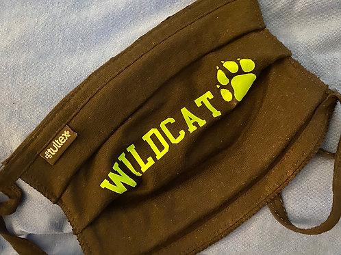 Wildcat Pleated Face Mask- Adult