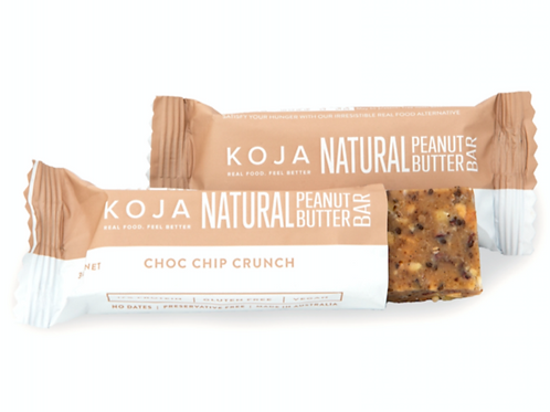 Koja Natural Peanut Butter Bar - Choc Chip Crunch