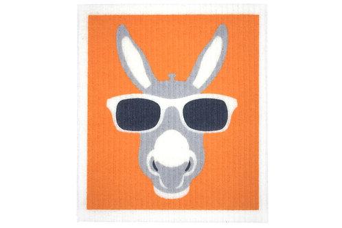 Retro Kitchen Biodegradable Sponge Cloth- Donkey