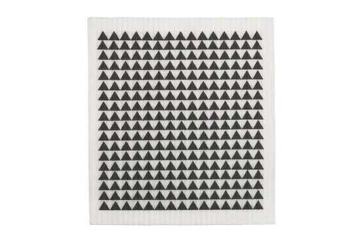 Retro Kitchen Biodegradable Sponge Cloth - Monochrome