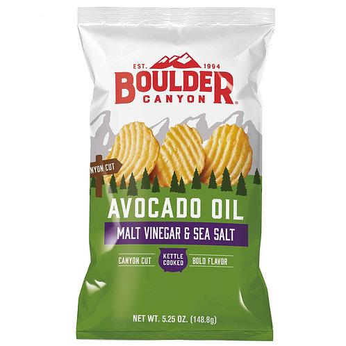 Boulder Canyon Chips - Avocado Oil  Sea Salt & Malt Vinegar