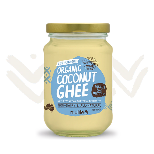 Niulife Coconut Ghee - Certified Organic 350ml Glass Jar
