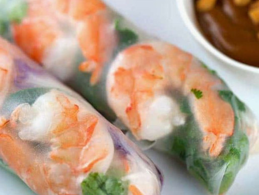 Fresh and Healthy Rice Paper Rolls Are Quick And Easy To Make.
