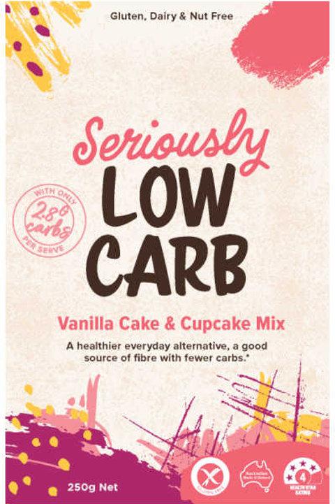 Well & Good Seriously Low Carb Vanilla Cake & Cupcake Mix 250g