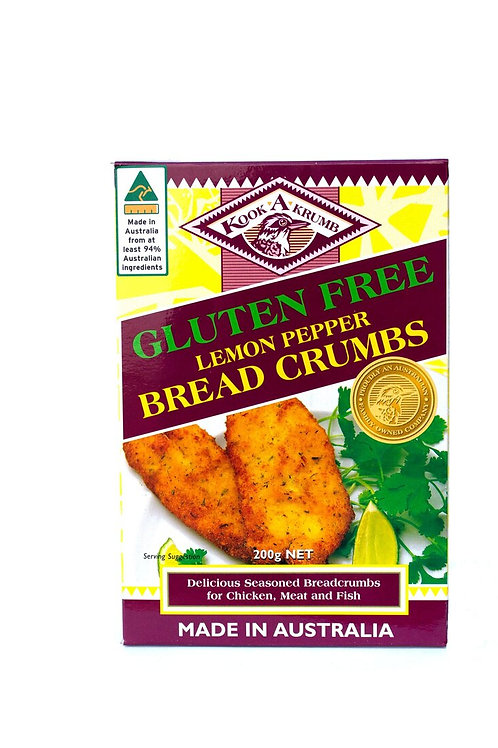 KookaKrumb Gluten  Free Lemon Pepper Breadcrumbs