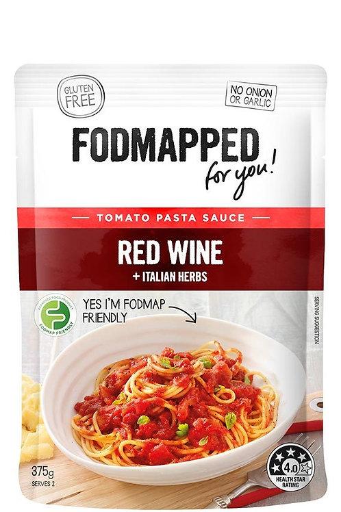 Fodmapped Red Wine & Italian Herbs Tomato Pasta Sauce