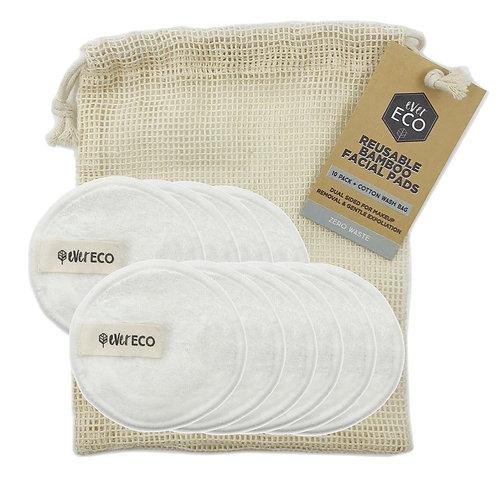 Ever Eco Reusable Bamboo Facial Pads - 10 Pack