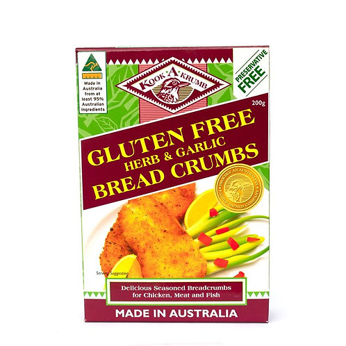 KookaKrumb Gluten  Free Herb & Garlic Breadcrumbs