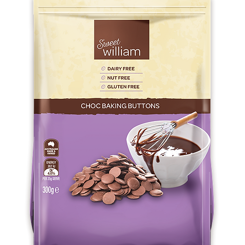 Sweet William Choc Baking Buttons