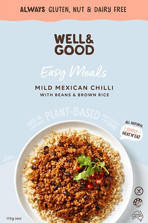 Well & Good Easy Meal - Mild Mexican Chilli