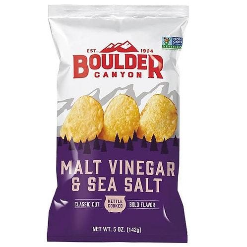 Boulder Canyon Chips -  Malt Vinegar Sea Salt