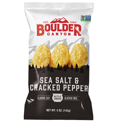 Boulder Canyon Chips -  Sea Salt & Cracked Pepper