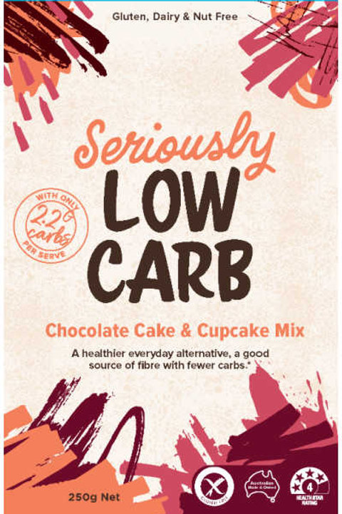 Well & Good Seriously Low Carb Chocolate Cake & Cupcake Mix 250g