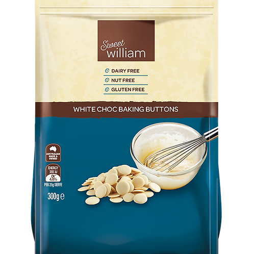 Sweet William White Choc Baking Buttons