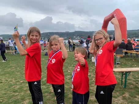 SV Schwerte 06 Abordnung beim Kinder-Fun-Triathlon am Möhnesee