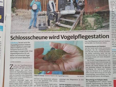 Artikel im Lenzburger Bezirksanzeiger