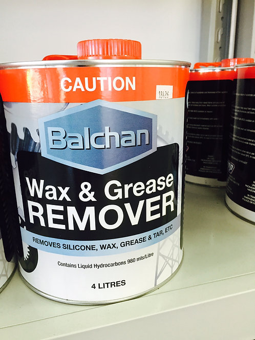 Balchan Wax & Grease Remover 4 Litre