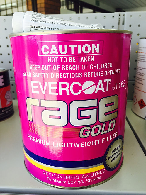 Evercoat Rage Gold Premium Body Filler 3.4 Litre