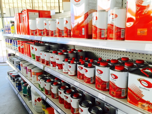 shop paint shelf