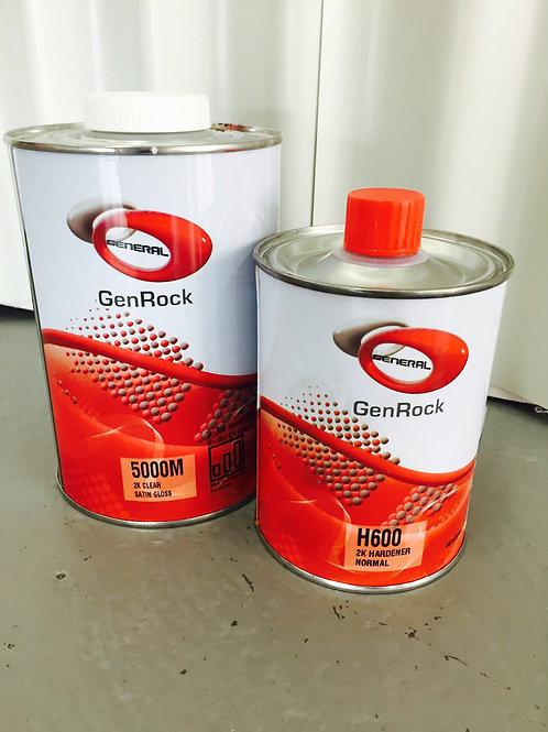 2K HS Satin Clear 1.5 Litre paint and hardener kit