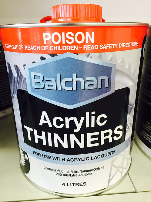 Balchan Acrylic Lacquer Thinners 4 Litre