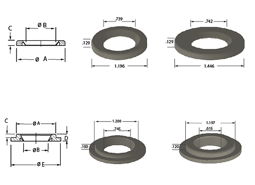 Grease and Flanged Plastic Seals