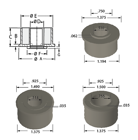 Plastic Stepped Flanged Bearings