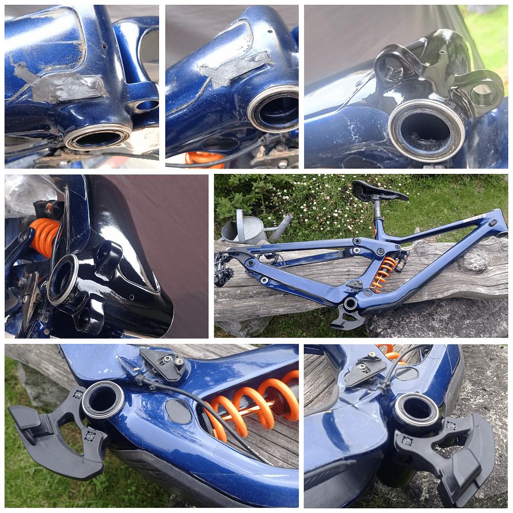 Réparation d'un cadre de vélo en carbone avec Dr Composite