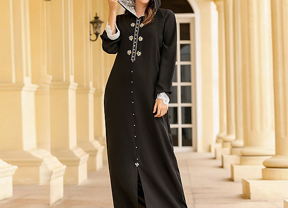 Lace Hooded Moroccan Dress